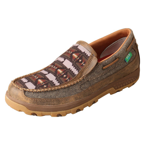 Twisted X CellStretch Eco/Multi Mens Fabric Driving Mocs Shoes