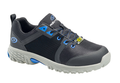 Nautilus Mens Black/Blue Mesh Alloy Toe 1310 Zephyr ESD Work Shoes