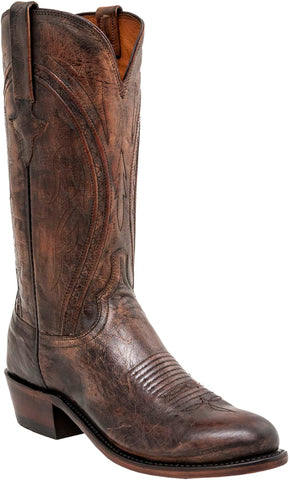 Lucchese Mens Cowboy Boots Peanut Brittle Mad Dog Goat Leather