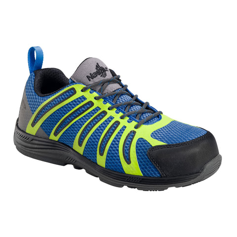 Nautilus Mens Nano Tech Comp Toe EH Athletic M Blue Action Leather Shoes
