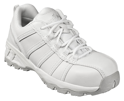 Nautilus Womens Composite Toe EH Athletic M White Leather Shoes
