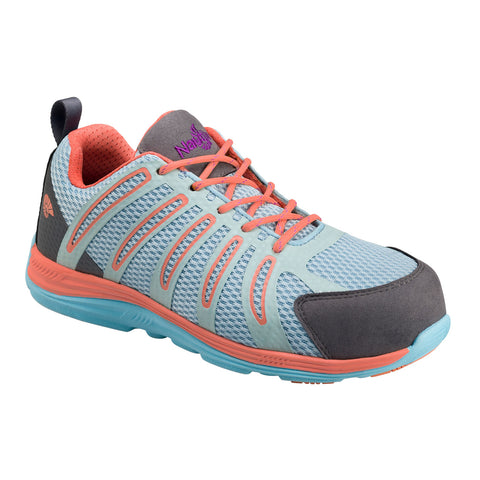 Nautilus Womens Nano Tech Comp Toe EH Athletic M Aqua Action Leather Shoes