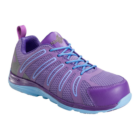 Nautilus Womens Nano Tech Comp Toe EH Athletic M Purple Leather Shoes