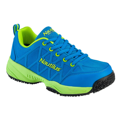Nautilus Womens Composite Toe Athletic M Blue Action Leather Shoes