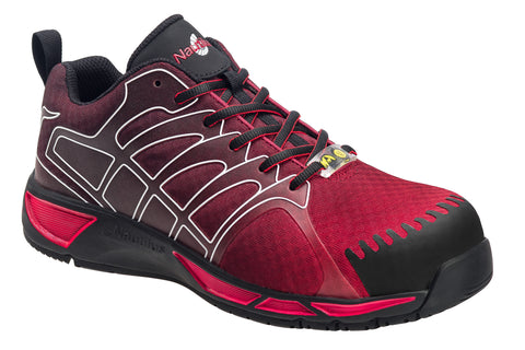 Nautilus Mens Comp Toe Adv ESD Athletic W Red Synthetic Shoes