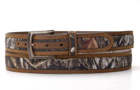 Nocona Mossy Oak Breakup Leather Mens 1.5in Belt 50