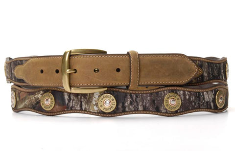 Nocona Mossy Oak Leather Mens Shotgun Shell Belt 54