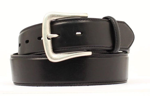 Nocona Black Leather Mens Plain 1.5in Belt 46