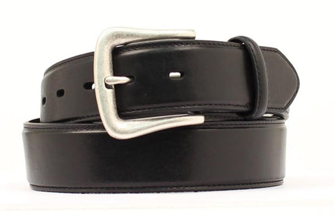 Nocona Black Leather Mens Plain 1.5in Belt 56