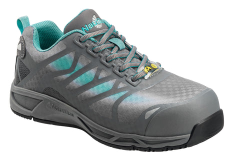 Nautilus Womens Comp Toe Adv ESD Athletic W Gray Synthetic Aqua Shoes