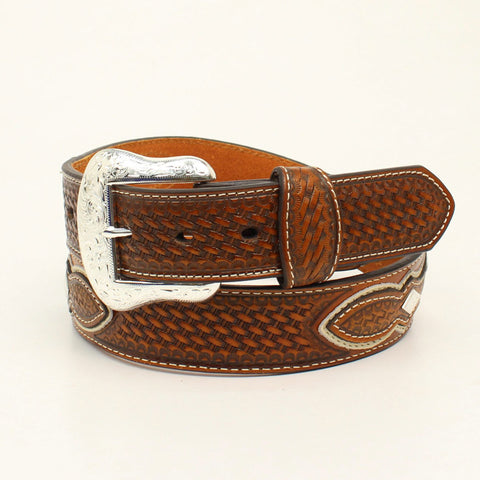 Nocona Natural Leather Mens Two-Tone Pro Series Belt