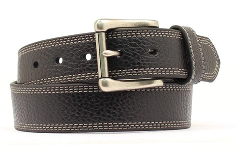Nocona Black Leather Mens Xtreme Stitch Belt 44
