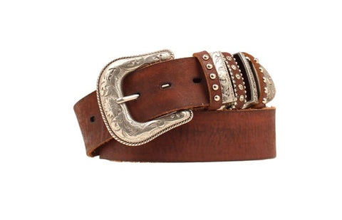 Nocona Brown Leather Womens Decorative Belt