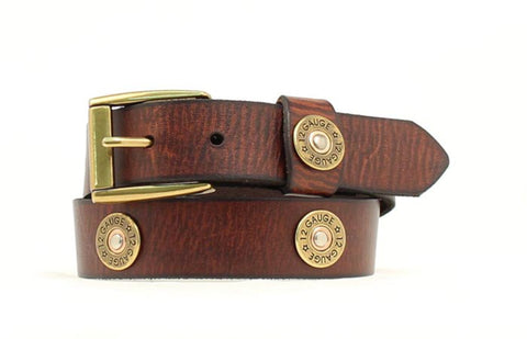 Nocona Brown Leather Boys Shotgun Shell Belt