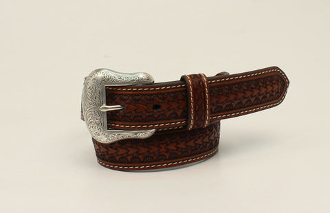 Nocona Tan Leather Boys Rawhide Lacing Belt