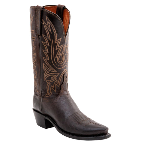 Lucchese Womens Cowboy Boots Chocolate Mad Dog Goat Leather