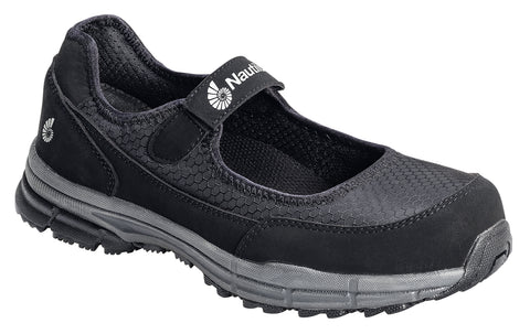 Nautilus Womens SD Mary Jane W Black Mesh Vegan Shoes