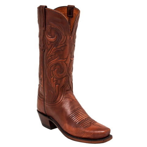 Lucchese Womens Cowboy Boots Cigar Cowhide Leather