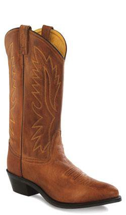 Old West Tan Canyon Mens Polanil Leather Round Toe 13in Cowboy Boots 13 D
