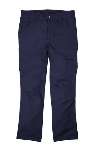 Berne Mens Navy Cotton Blend Ripstop Cargo Pants