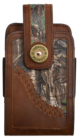 3D Brown Leather Smartphone Holder Distressed