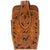 3D Natural Leather Smartphone Holder Acorn Tooled Contrast Stitching