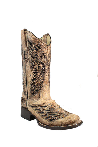 Circle G Urban Ladies Gold Cowhide Leather Cowgirl Boots