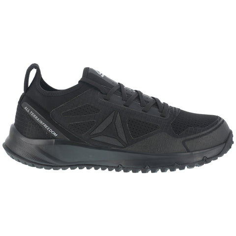 Reebok Mens Black Mesh Work Shoes ST Trail Run Oxford