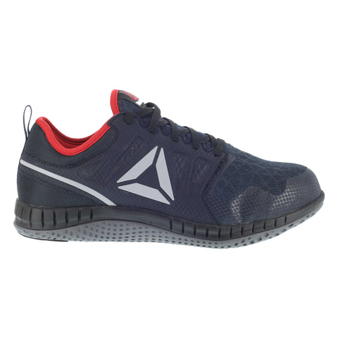 Reebok Mens Navy Mesh Work Shoes Steel Toe EH Red Athletic Oxford
