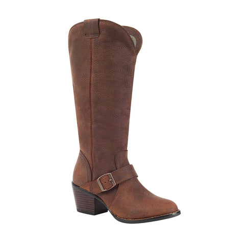 Durango City Womens Med Brown Leather Philly Turn Down Fashion Boots