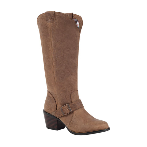 Durango City Womens Light Brown Leather Philly Turn Down Fashion Boots