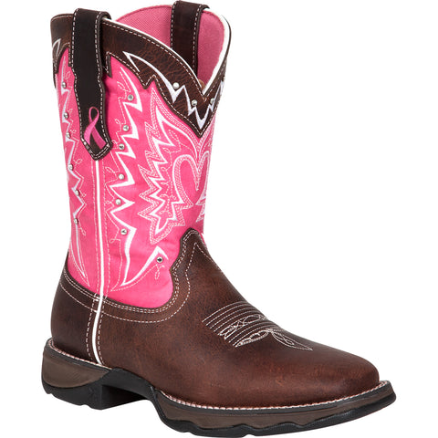 Durango Womens Pink Leather Breast Cancer Western Cowboy Boots