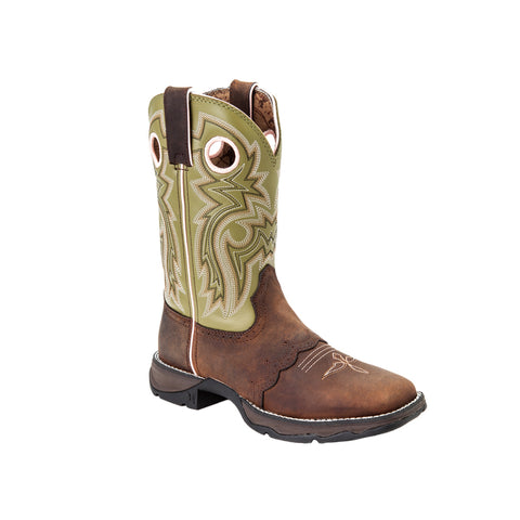 Lady Rebel by Durango Womens Meadow 'n Lace Leather Saddle Cowboy Boots