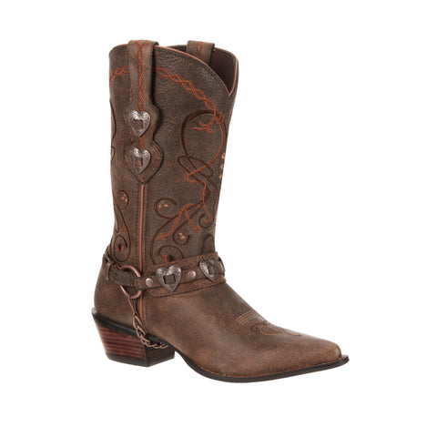 Crush by Durango Womens Dusk to Dawn Leather Heartbreaker Cowboy Boots