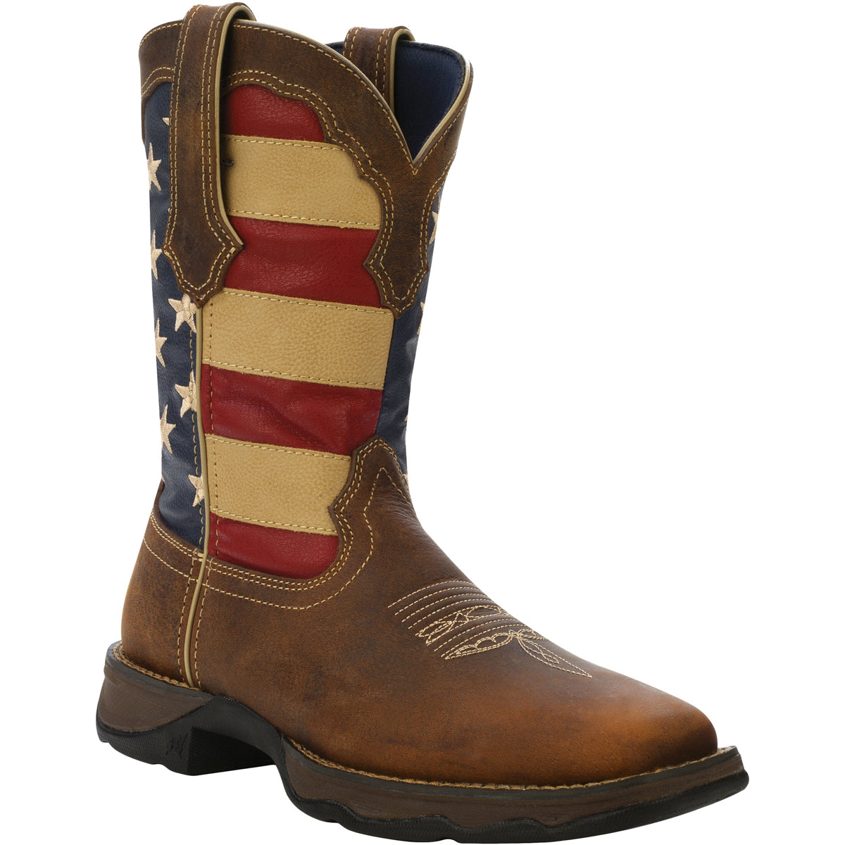 28a3faf8be4 Lady Rebel by Durango Womens Brown Leather Union Flag USA Cowboy ...