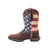 Lady Rebel by Durango Womens Brown Leather Union Flag USA Cowboy Boots