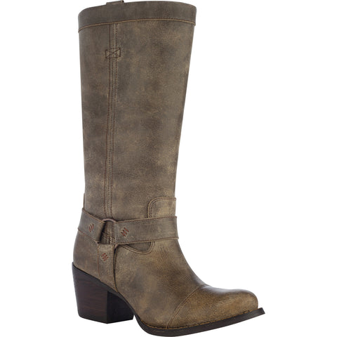 Durango City Womens Tan Leather Philly Tall Harness Fashion Boots