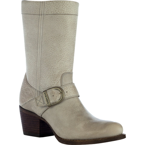Durango City Philly Womens Taupe Leather Buckle Mid-Calf Fashion Boots