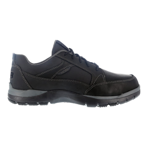 Rockport Mens Black Leather Work Shoes Steel Toe Kingstin Oxford