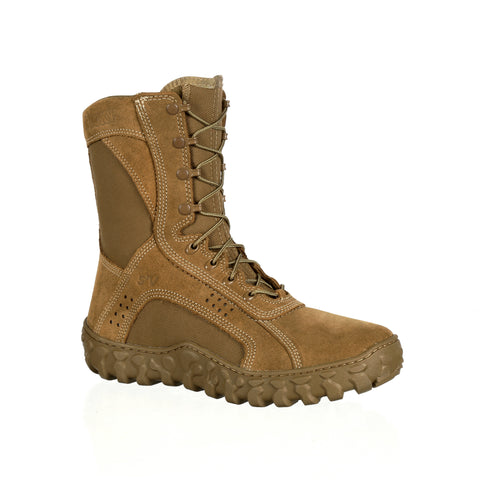 Rocky Mens Coyote Brown Leather S2V Tactical PTFE Military Boots