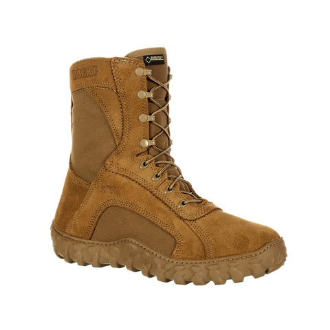 Rocky Mens Coyote Brown Leather S2V 400G GTX Military Boots
