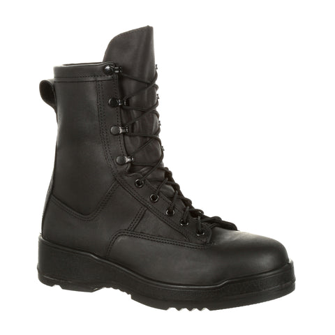 Rocky Mens Black Leather Hot Weather ST GTX Military Boots