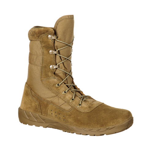 Rocky Mens Coyote Brown Leather C7 CXT Lightweight Military Boots