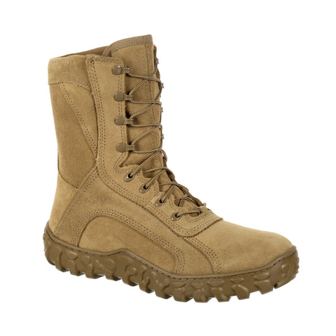 Rocky Unisex Coyote Brown Leather S2V Tactical FR Military Boots