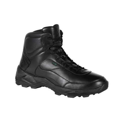 Rocky Mens Black Leather Priority Postal-Approved Duty Boots