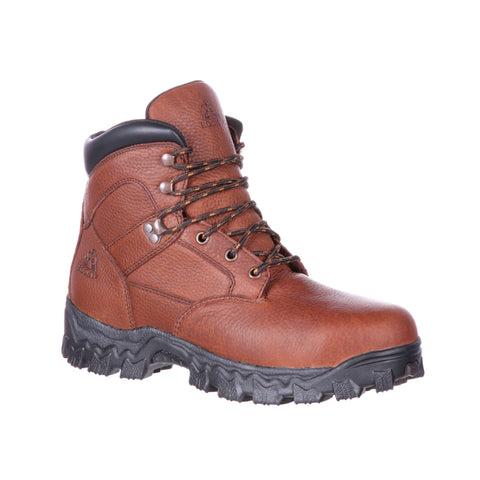 Rocky Mens Brown Leather AlphaForce PR ST WP Work Boots