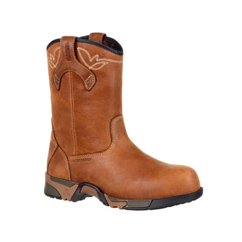 Rocky Womens Brown Leather Aztec CT WP Work Boots