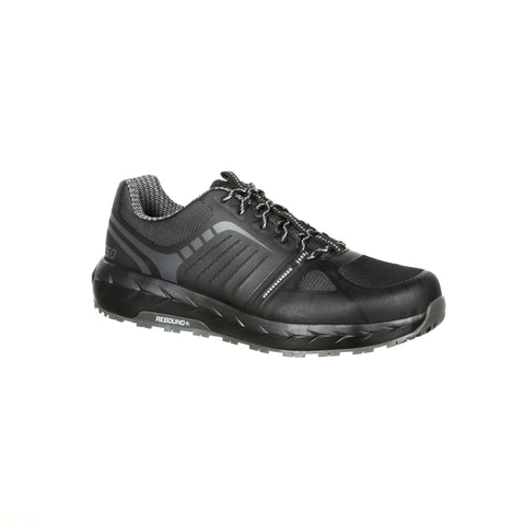 Rocky Mens Black Mesh LX AT Work Oxford Shoes