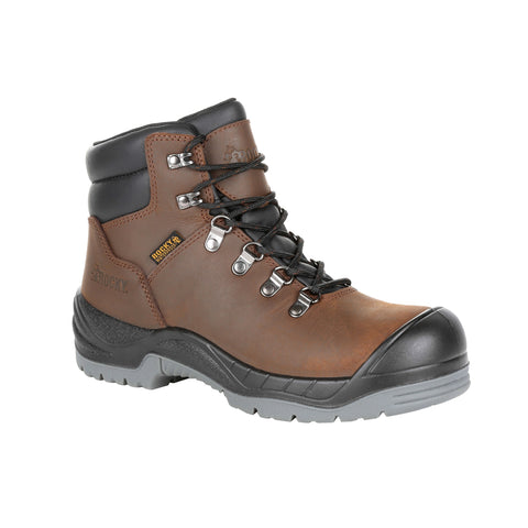 Rocky Womens Brown Leather Worksmart WP Work Boots