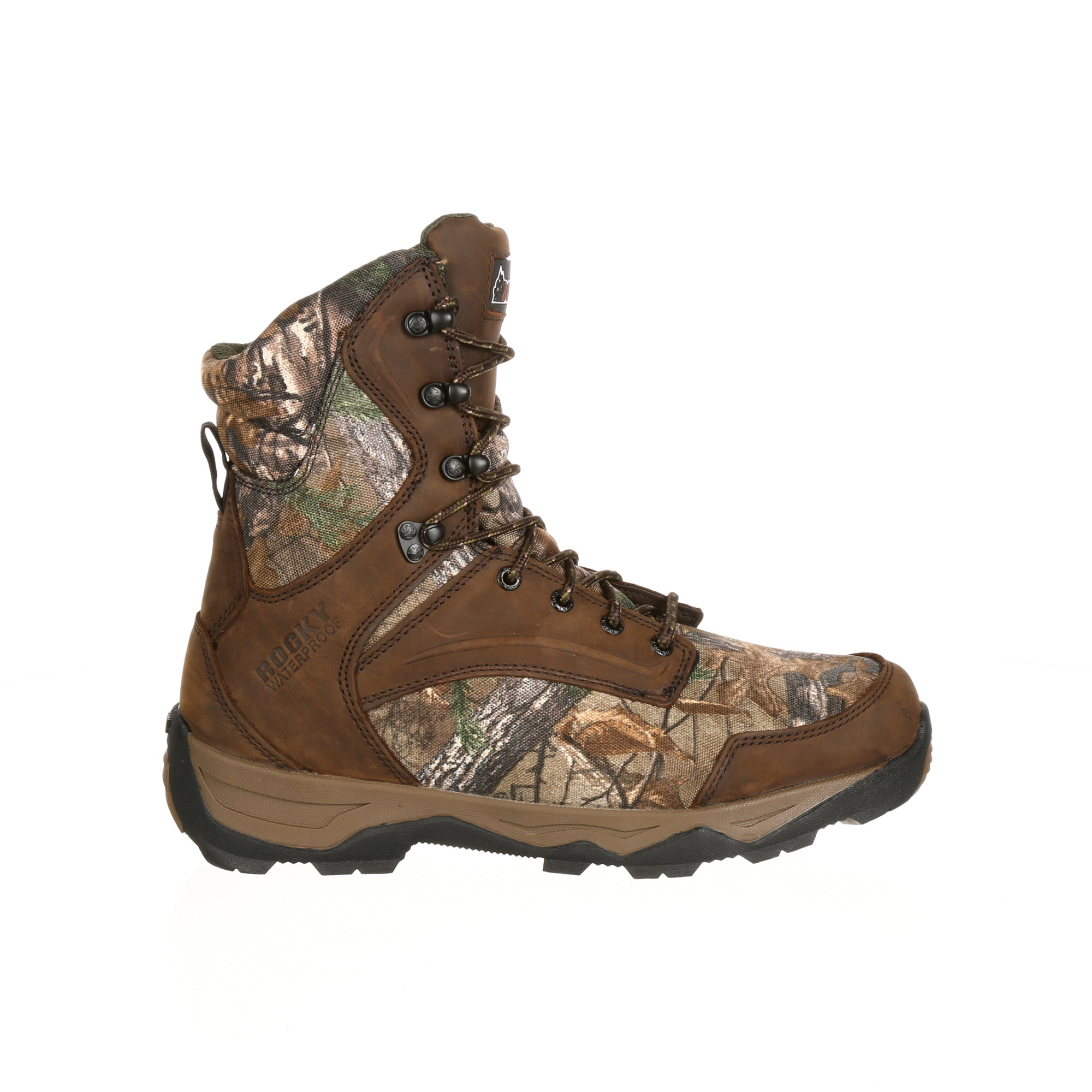 ... Rocky Mens Realtree Xtra Leather Retraction WP 800G Hunting Boots